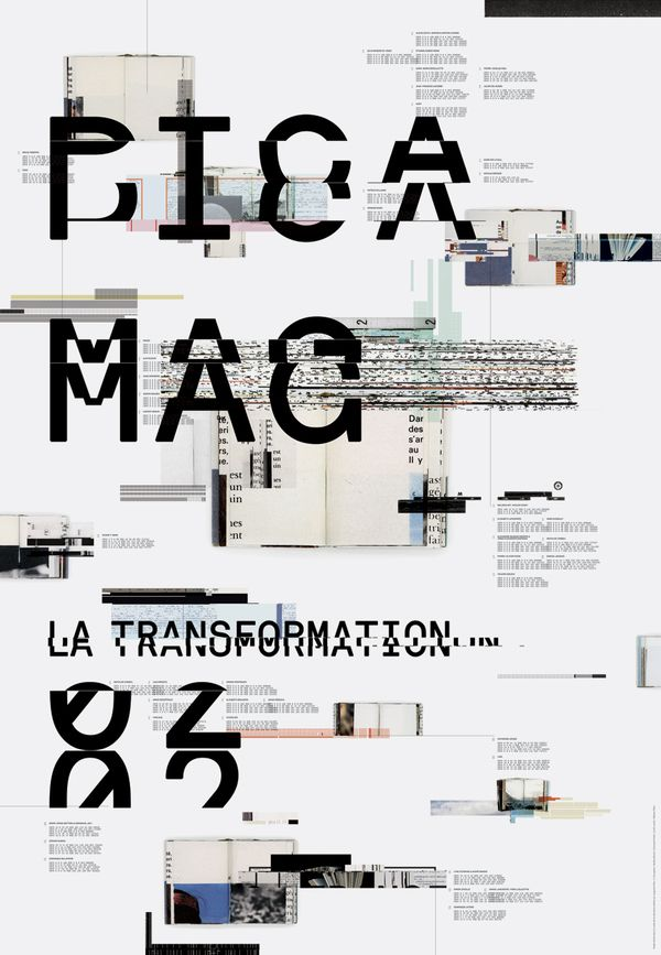 PICA MAGAZINE POSTER / JACKET by Emanuel Cohen, via Behance