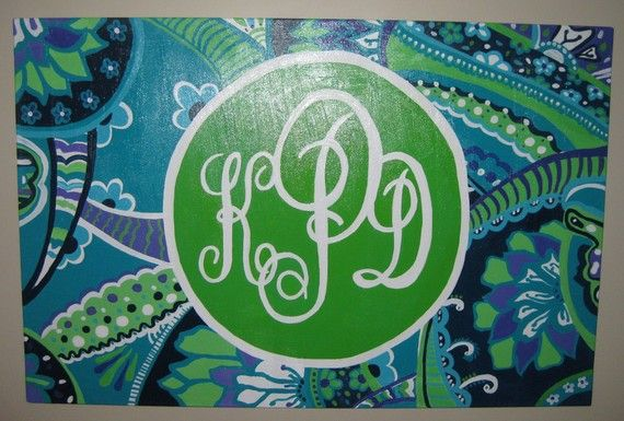 Great gift idea!: Inspired Monogrammed, Lilly Inspired, Monogrammed Prints, Craft Ideas, Monograms