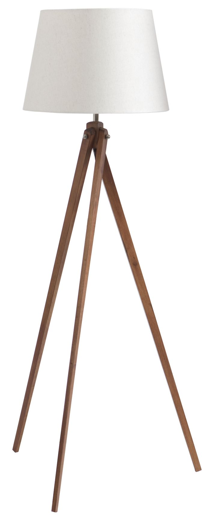 Cast some light on the situation with an elegant Hades Floor Lamp.  Its ivory shade and tapered wooden tripod base is a stylish and practical addition to any living room and is perfect for reading by.  Price $299.
