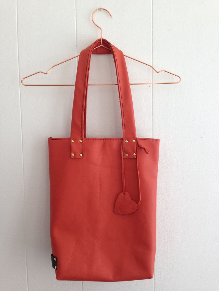 Orange Is The New Black! Leather bag