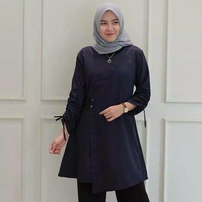 Warna Hijab Untuk Baju Navy