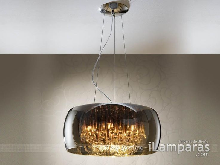 argos lampara colgante grande cromo (508111) - Schuller / iLamparas.com