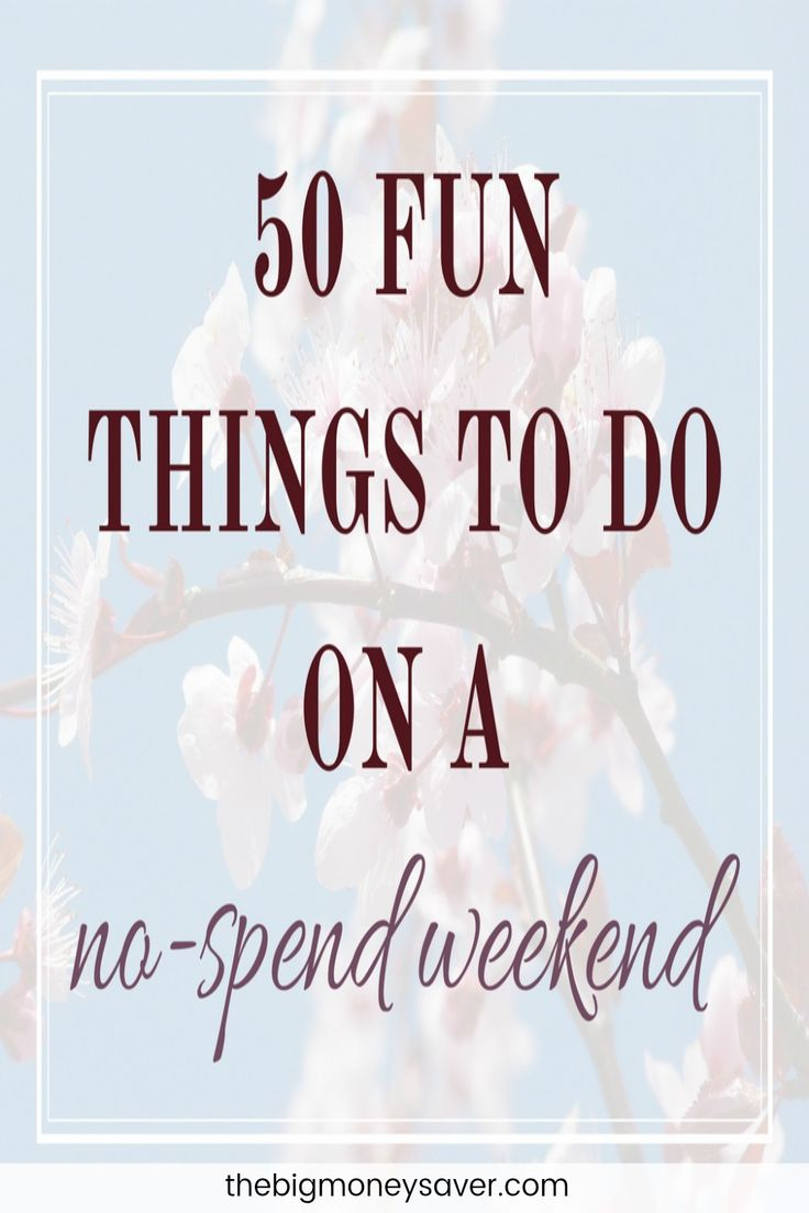 I LOVE these free ideas! 50 fun things to do on a no-spend weekend with the family. Have a great time without spending a penny!