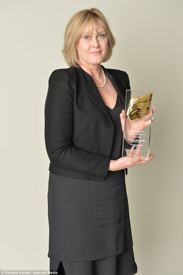Simply the best: Sarah Lancashire was awarded for Best Actress in Happy Valley for BBC One...