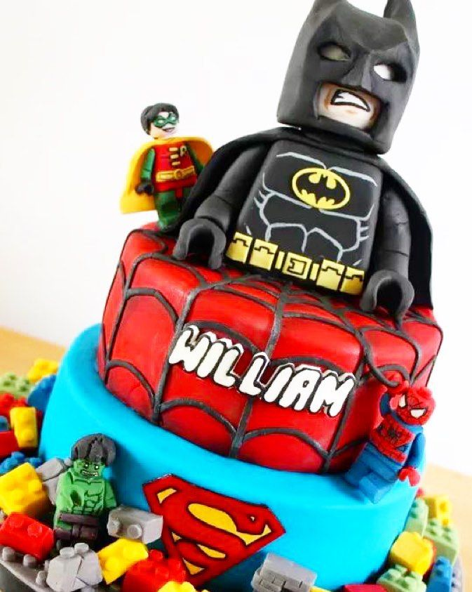Best 25 lego superhero cake ideas on pinterest lego - Spiderman batman lego ...