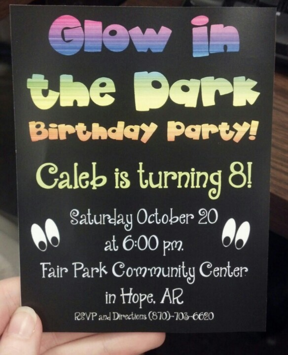 29 best images about Glow Party Invitations on Pinterest