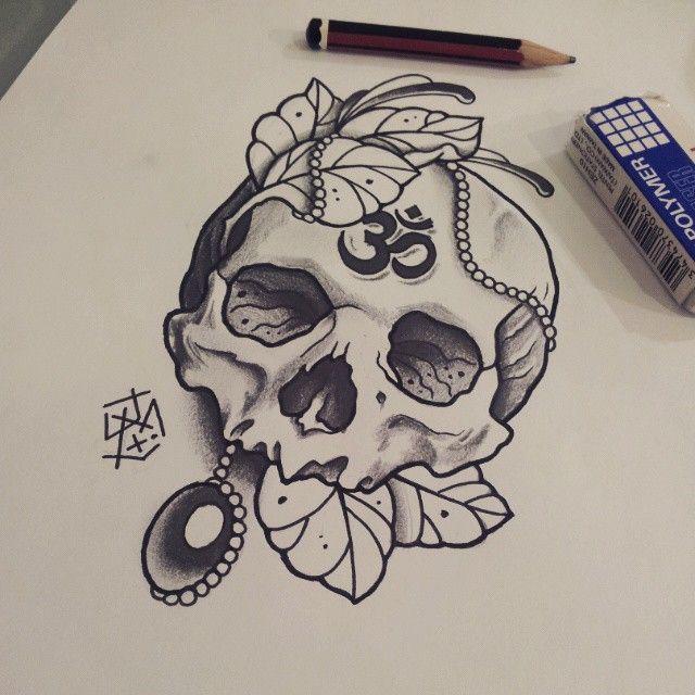 Traditional Flash Skull Tattoos