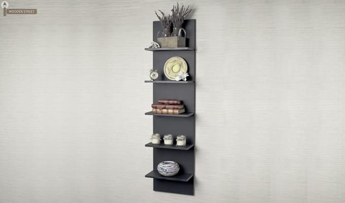 Buy Baize Wall Mounted Rack Black Finish Online In India Wooden Street In 2020 Wooden Street Wall Mount Rack Wall Mount