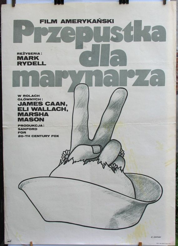 Very old poster – 'Cinderella Liberty'. US (1973) film. Directet by: Mark Rydell. Polish poster by Maciej Zbikowski (1977). Vintage poster