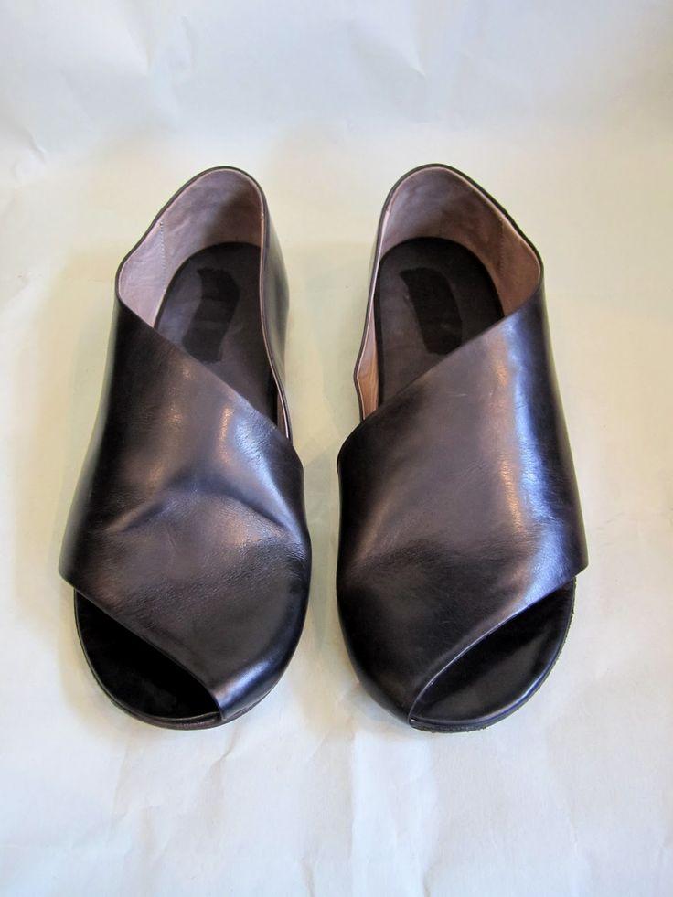 Marsell Diagonal Slip On Sandal Color Dark Brown If