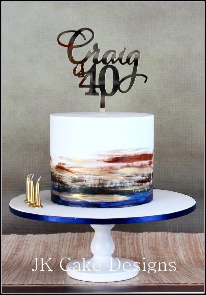 40th Birthday Cakes Mens