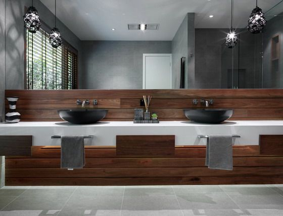Large Modern Mirror in Contemporary Bathroom. 10 Best images about Bathroom on Pinterest   Wet room bathroom
