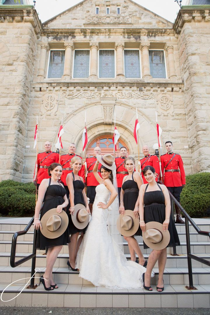 RCMP wedding. Love this with my girls! #RCMP #wedding #canadiangirls