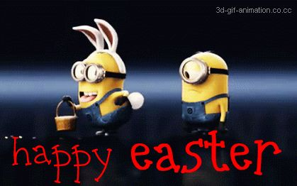 Happy minion easter