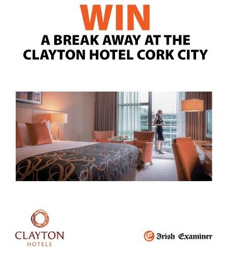 Win a Break Away at The Clayton Hotel Cork City - http://www.competitions.ie/competition/win-break-away-clayton-hotel-cork-city/