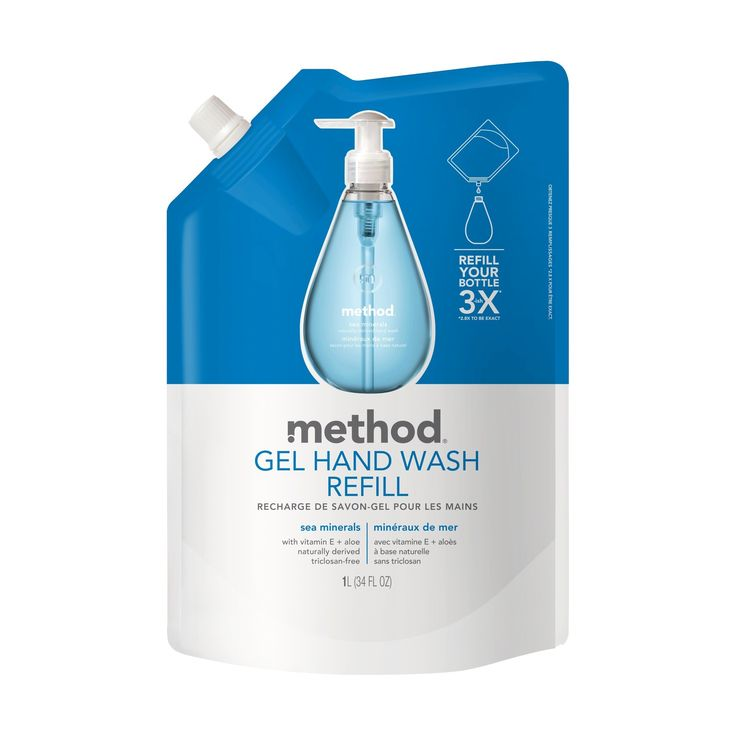 Method Gel Hand Soap Refill Sea Minerals - 34oz