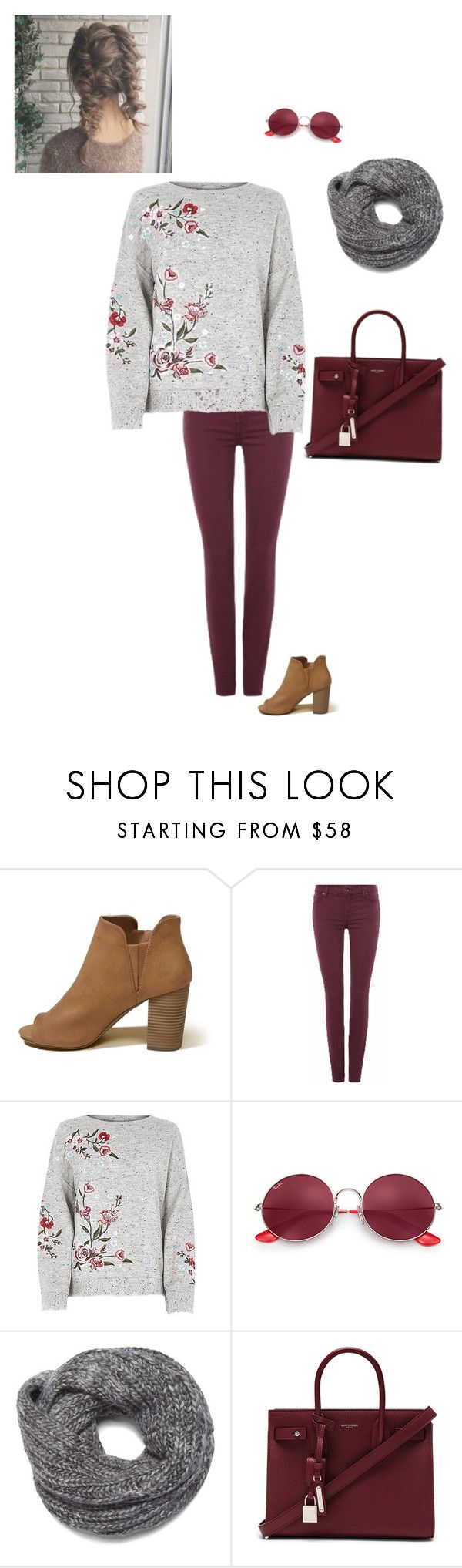 """""""Untitled #925"""" by beauty-lays-within ❤ liked on Polyvore featuring Hollister Co., 7 For All Mankind, Ray-Ban, Nine West, Yves Saint Laurent, casualoutfit and 2017"""