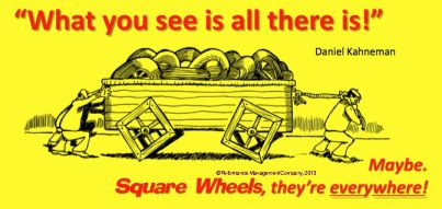 "Square Wheels One linked to Daniel Kahneman's idea that, ""What you see is All There Is."""