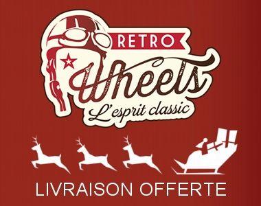 Cette année en décembre nos amis de Retro Wheels vous propose la livraison offerte sans minimum d'achat pour toutes les commandes qui seront expédiées en France métropolitaine en Colissimo suivi par La Poste (lettre suivie suivant la taille des produits) ou en Point Relais par Mondial Relay : http://www.evolutiveweb.com/actualites/articles/livraison-offerte-pour-noel-chez-retro-wheels-105.html  Profitez-en vite sur www.retrowheels.fr !  Offre valable du 1er au 31 décembre 2016.