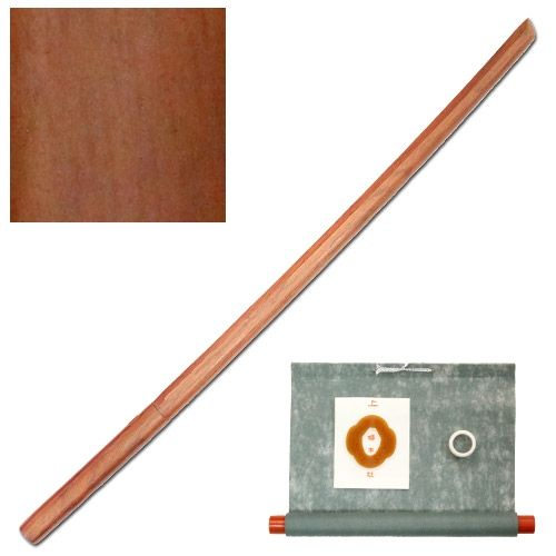 Bokken realizzato in Legno di Quercia Rossa. Alta qualità, buona lavorazione e consistenza.