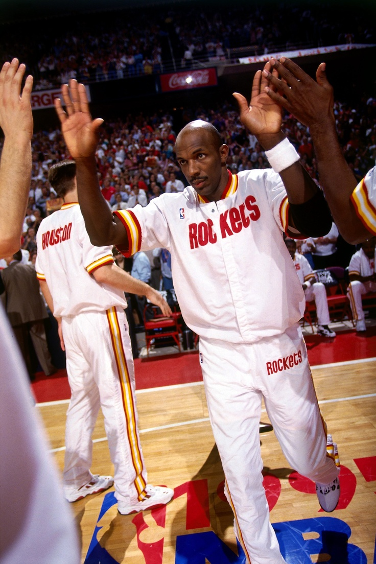 Ho houston rockets nba championship - Clyde Drexler Shortly After Being Traded To The Rockets In 1995 For All The