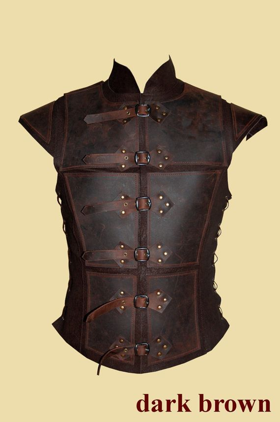 Reinforced jerkin for men made of leather