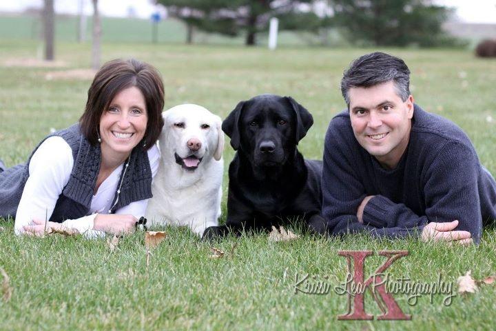 Dog Family Portrait-Christmas card photo idea