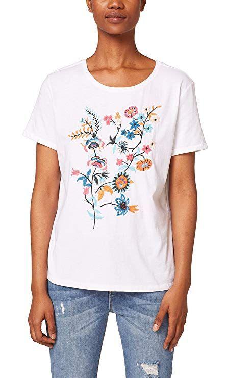 Das blumige T-Shirt von edc by Esprit bekommt ihr bei amazon in allen Größen 8d03d67257