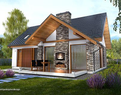 K2MODUL,house ZALA 86, modern small house by damijankoprivc