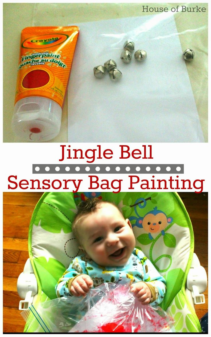 Jingle Bell Sensory Bag Painting - House of Burke                                                                                                                                                     More
