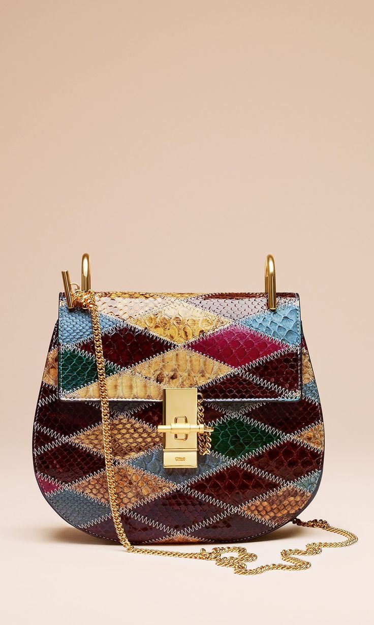 The multi-coloured Drew in patchwork python will ensure you stand out during the party season