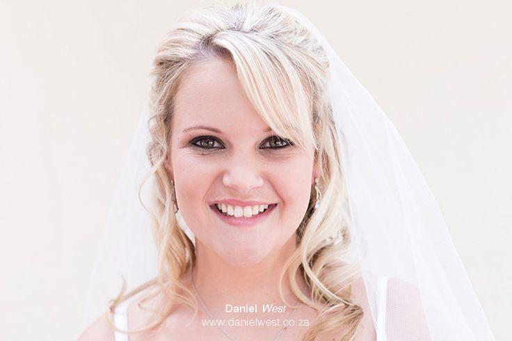 Bride smiling makeup happy