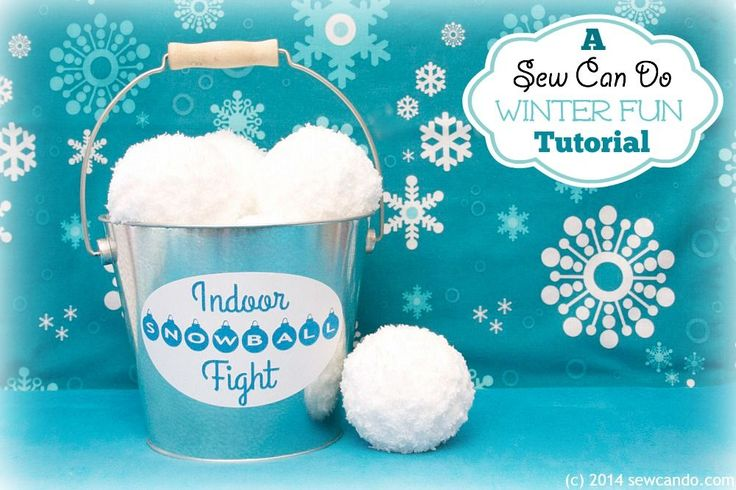 Sew Can Do: Tutorial Time: Make An Indoor Snowball Fight Set.  Easy to make, fun to use and a great handmade gift idea!