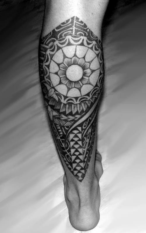 17 best images about tattoo ideas on pinterest tiki tiki for Polynesian thigh tattoo