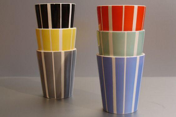 Waechtersbach striped beakers