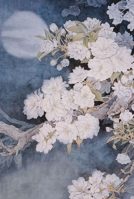 Chinese blossom tree paintings