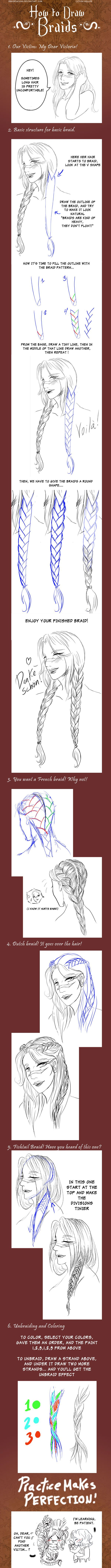 + How to draw Braids + by VonHollde.deviantart.com on @deviantART I LOVE THIS I LOVETHIS ILOVEEEEEEEEEEEETHIS
