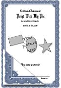 Formal certificate templates to print, free certificate makers you can use to add your own picture to the certificates to print