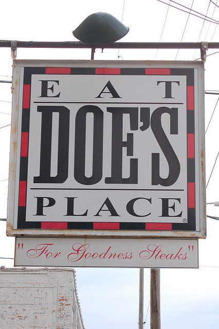 Unique Restaurants In Arkansas. Doe's Eat Place in Little Rock: This Little Rock landmark is known for huge steaks and homemade tamales. It gained national attention during the 1992 presidential election campaign.