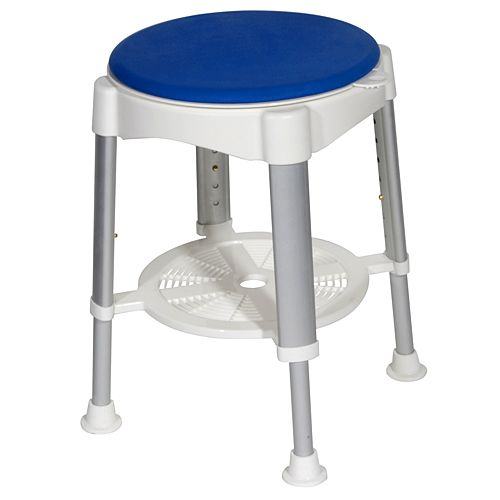 The Drive Medical Bath Stool With Padded Rotating Seat Reduces Twisting And  Reaching While In The Shower, Ensuring Users Safety And Comfort.