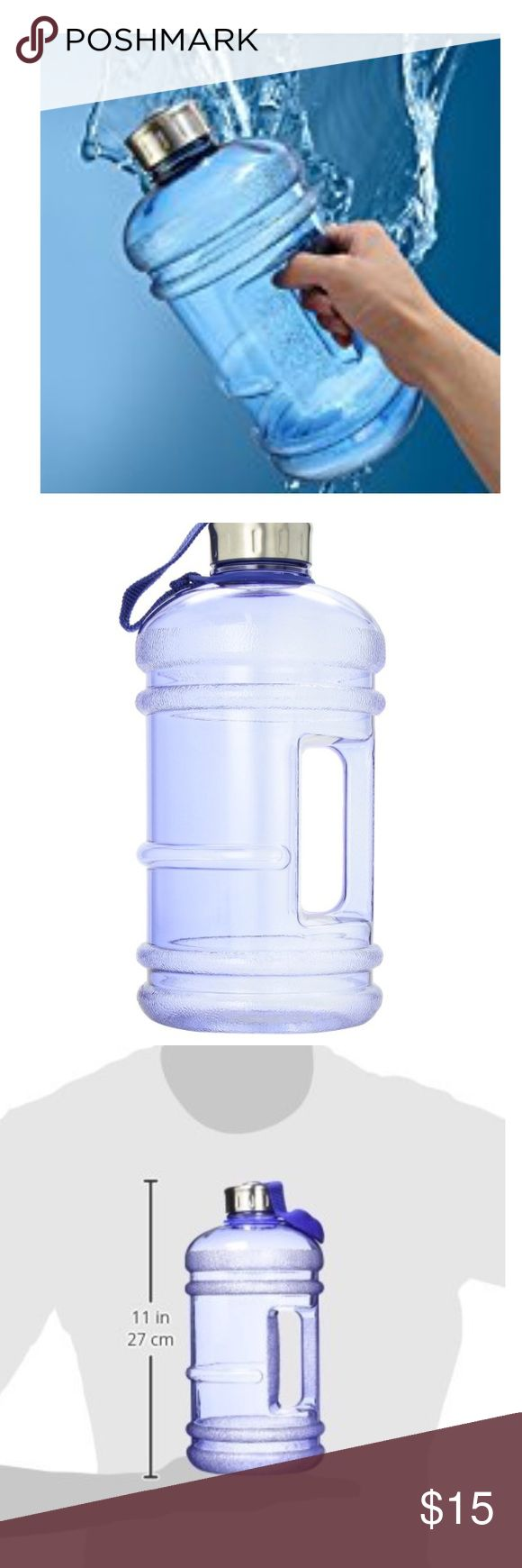 💪🏼Fitness - Half-Gallon Water Bottle BPA Free. Transparent light blue.  ✅Great deal!✅ Save with bundle discounts💰 I also offer customized bundles🛍  Interested? Leave a comment below 👇🏼 ~~~~~~~~~~~~~~~~~~~~~~~~~~~~~~ Accessories