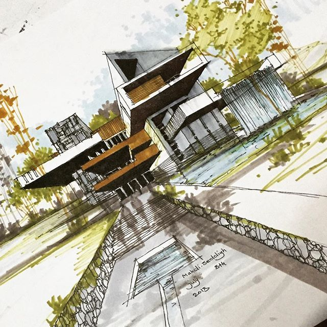 1363 best images about 3d hand drawn architectural on for Architecture sketch