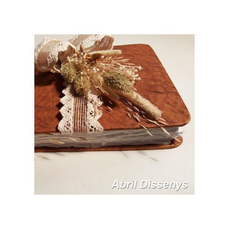 Libro para Firmas con Flor Seca Colección Arena
