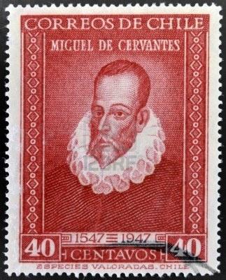 Miguel de Cervantes, author of Don Quixote, circa 1947 (printed in Chile)
