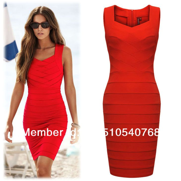 Cheap bandage dress shop, Buy Quality bandage dresses sale directly from China bandage art Suppliers: Intro: Sleeveless sundress , knee length , ,new arrival ,cheapest and beautiful bandage dress ,suit for daily wor