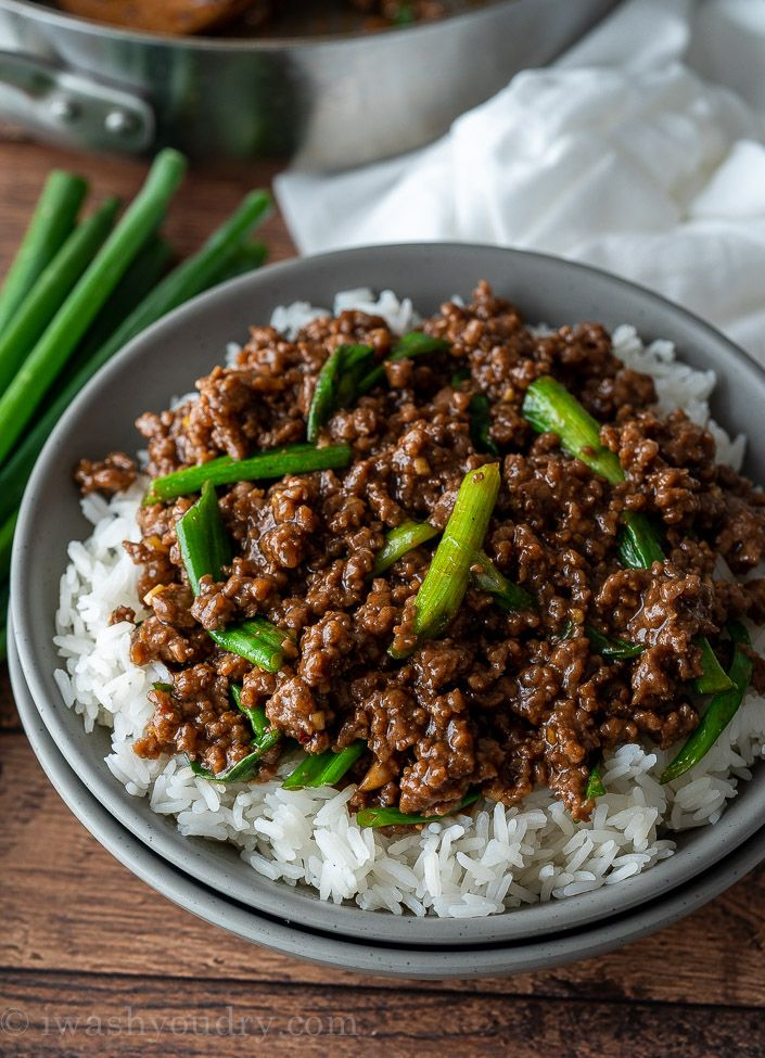 Easy Mongolian Ground Beef Recipe Ground Beef Recipes Beef
