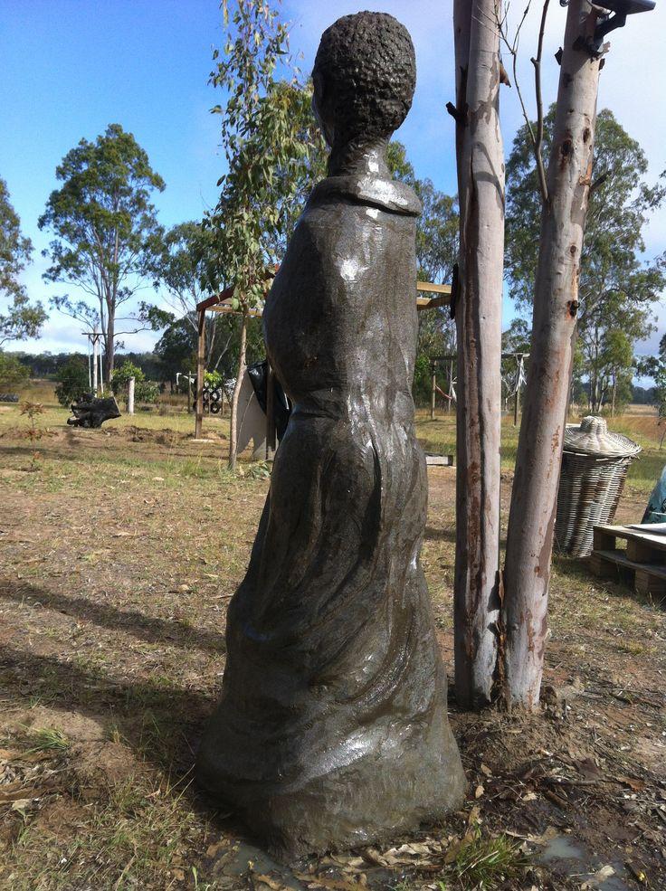 large Garden Sculpture, Cement Fondue