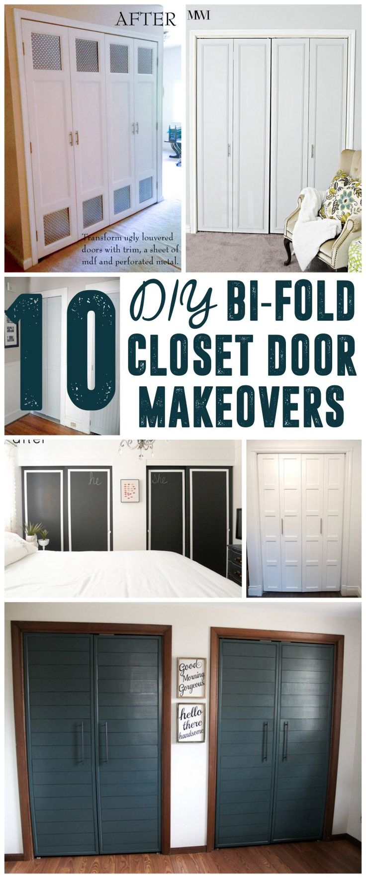 Your home improvements refference mirrored closet doors - Diy Bi Fold Closet Door Makeovers
