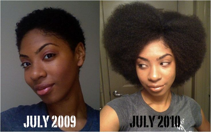 Natural Chica's 1 year growth after big chop