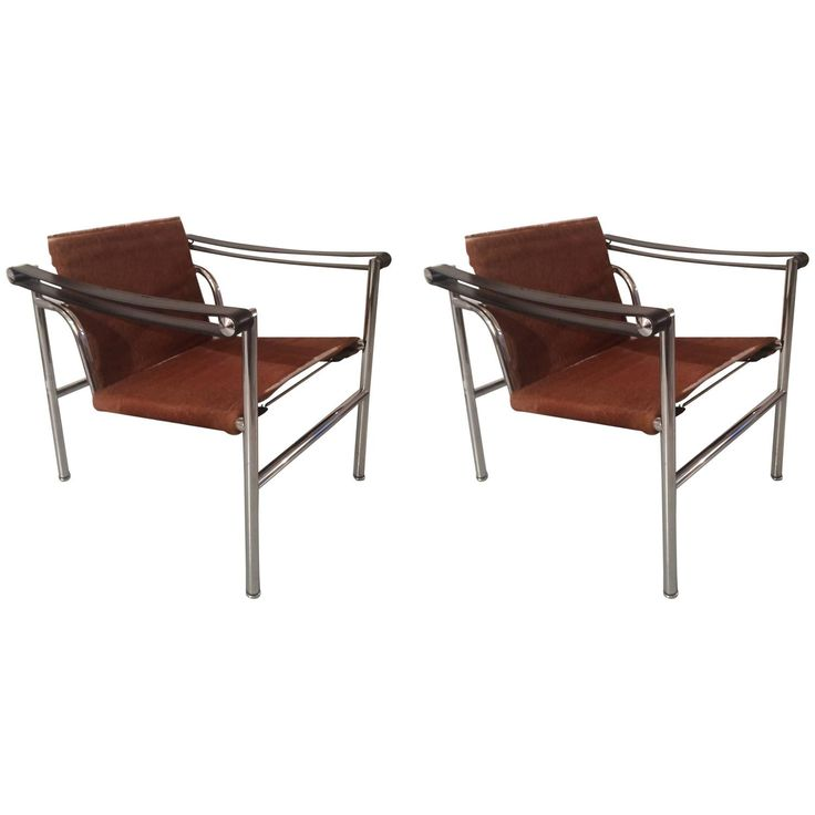 Le corbusier lc1 pony skin pair of basculant chair le - Chaise lc1 le corbusier ...